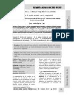 La Renuncia Como Acto Jurídico Laboral - Autor José María Pacori Cari