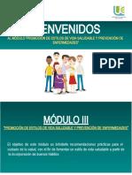 Modulo III. Promoción de estilos de vida saludables y prevención de enfermedades