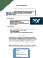 Guía  análisis de texto narrativo