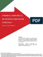 Artigo Eireli Frederico Garcia Pinheiro