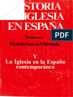 Historia de La Iglesia en España V. La Iglesia en La España Contemporánea