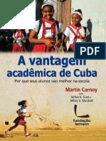 A Vantagem Educacional de Cuba Martin Carnoy Trecho Do Livro 649976973