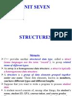 Unit 7 (c++)-Structures