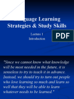 Language Learning Strategies & Study Skills