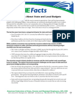 AFSCME Fact Sheet State & Local Budgets