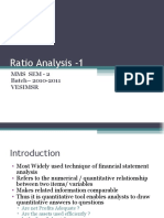 ratio analysis -1