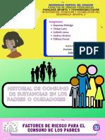 GRUPO 2 HISTORIAL DE CONSUMO DE SUSTANCIAS EN LOS PADRES O CUIDADORES