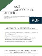 ABORDAJE PSICOLOGICO EN EL ADULTO Jueves 16 enero 2020