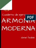 Cuaderno de Ejercicios de Armonía Moderna - Daniel Fedele ( 2017 )