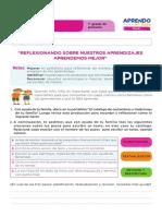 Ficha de Autoaprendizaje Comunicación -Sesion Evaluación Primer