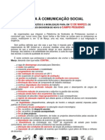 Comunicado Plataforma 23 de Fevereiro 2011