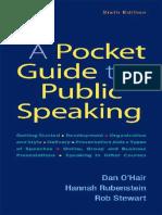Dan O'Hair, Hannah Rubenstein, Rob Stewart - A Pocket Guide to Public Speaking-Macmillian Learning (2019)