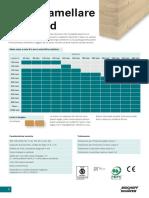 Sezioni commerciali Legno_lamellare_standard