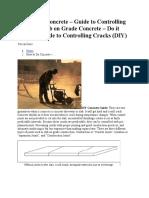 How to Do Concrete