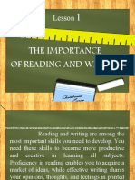 Importance of reading and writing