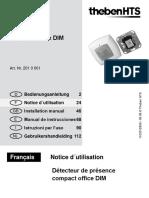 Détecteur THEBEN - 201 0 001 - HTS compact office DIM - Bureaux + Circulation - Notice