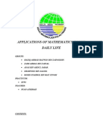 APPLICATIONS OF MATHEMATICS IN OUR DAILY LIFE