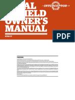 Royal Enfield Interceptor 650 Owner's Manual 2018