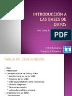 Introd. a las Bases de datos
