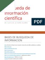 Búsqueda de Información Científica f