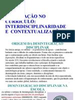 Interdisciplinaridade e Contextualização