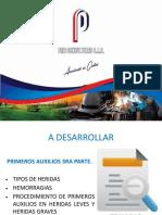 PRIMEROS AUXILIOS 3rA PARTE-HERIDAS, HEMORRAGIAS.