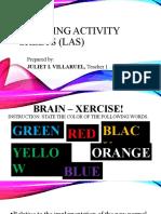 Learning Activity Sheets (Las)
