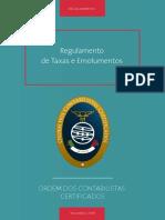 Regulamento de Taxas e Emolumentos(1)