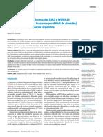 Validez y fiabilidad de las escalas ASRS y WURS