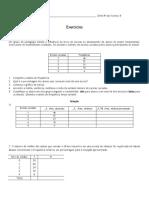 Exercício de Frequencia Relativa, absoluta e Classes