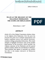 Islam As The Religion of Federation