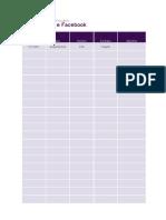 Planilha de Planejamento de Postagem Instagram e Facebook para empreendedores