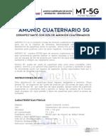 FICHA TÉCNICA DE AMONIO CUATERNARIO 5G