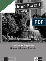 Berliner Platz 1 NEU Glossar Deutsch Englisch