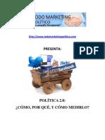 Política 2.0 Cómo, por qué, y cómo medirlo