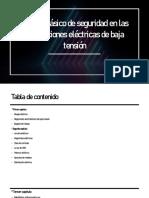 Manual básico de seguridad en las instalaciones eléctricas