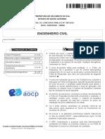 AOCP PREFEITURA DE SÃO BENTO DO SUL_SC 2019 PROVA_Engenheiro Civil