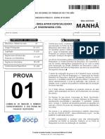 AOCP TRT 1 2018 PROVA_Engenheiro Civil