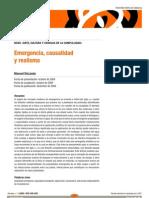 Emergencia, causalidad y realismo - Manuel DeLanda