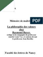 MEMOIRE-Axiologie-RUYER