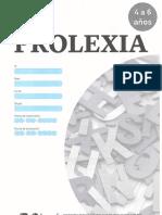 Prolexia Cuadernillo 4 a 6 Años
