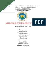Ejercicios de Investigación y Evaluación 1