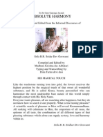 ABSOLUTE HARMONY - Srila B.R. Sridar Dev Goswami