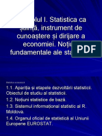 Obiectul statisticii