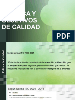 POLITICA Y OBJETIVOS DE CALIDAD
