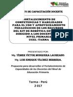 PROYECTO DE CAPACITACION DE ROBOTICA