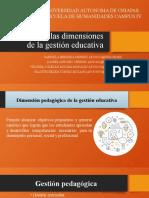 Análisis de Las Dimensiones de La Gestión Educativa