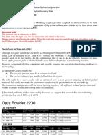 Data Powder 2200 load data