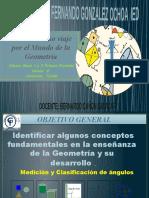 Grado 8, Clase 1. Los Angulos !Medicion y Clasificacion Jueves 28 de Enero 2021 Bernardo Cañon Salazar Docente Colegio Fgo Ied
