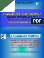 Grado 7 Clase 1b. Numeros Racionales e Irracionales,Multiplos y Divisores. Guia 1 (Primer Periodo) Juueves 11 02 2021 Bcs